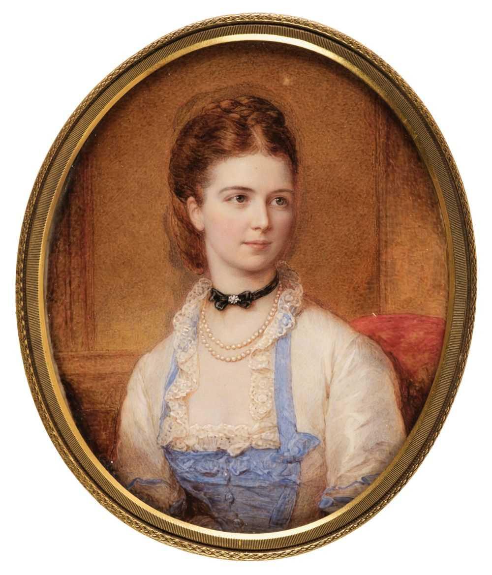 Lot 329 - English School. Portrait of Mary Anne Johnson Headlam nee Sowerby, circa 1880