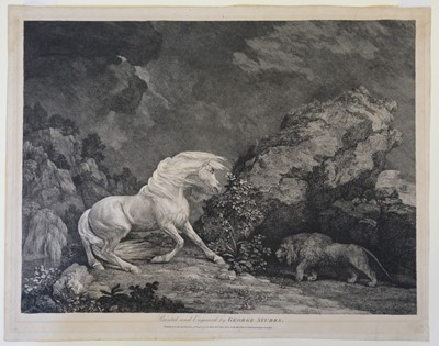 Lot 318 - Stubbs (George). A Horse Affrighted by a Lion, 1777