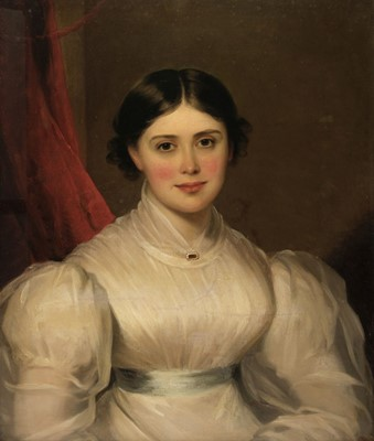 Lot 324 - Barber (Thomas, 1768-1843). Portrait of Eliza Wilson née Read (1803-1851), circa 1830