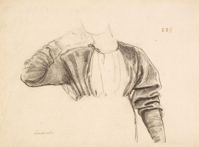 Lot 371 - Burne-Jones (Sir Edward Coley, 1833-1898). Drapery Study of a Woman for Cinderella, 1862-1863