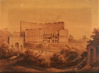 Lot 365 - English School (early 19th century). The Colosseum at Rome