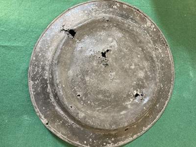 Lot 48 - Communion Plate. Pewter plate dated 1704