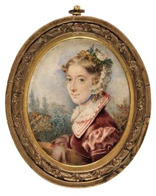 Lot 327 - Heap (Mary). Portrait miniature of Caroline Baynham, 1823