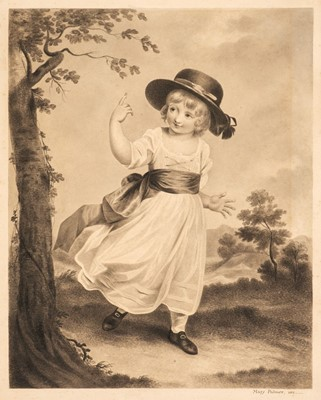 Lot 378 - Palmer (Mary, early 19th century). Young boy in hat ... skipping in a wooded landscape, 1812