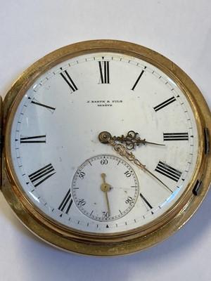 Lot 40 - Pocket Watch. Edwardian 14K gold pocket watch by J. Barth & Fils, Geneva