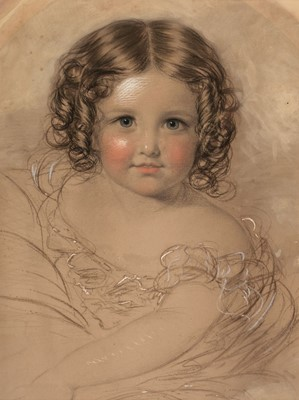 Lot 366 - English School. Portrait of a young girl
