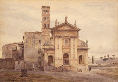 Lot 363 - Elgood (George S.). Basilica di Santa Francesca Romana, Rome, 1882