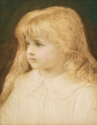 Lot 382 - Tayler (Edward, 1828-1906). Portrait of a Young Girl