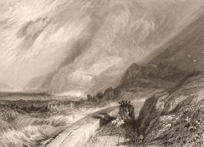 Lot 390 - Turner (Joseph Mallord Willam, 1775-1851). Penmaen-Mawr, Caernarvonshire, [1834]