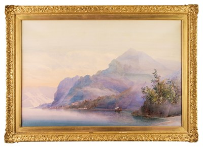 Lot 357 - Brockett (Frederick, later 19th century). View of Lake Como, Italy