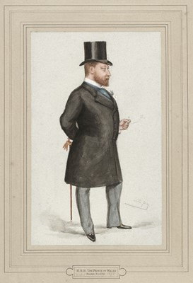 Lot 380 - Ward (Leslie Matthew, pseud. 'Spy', 1851-1922). H.R.H. The Prince of Wales, 1878