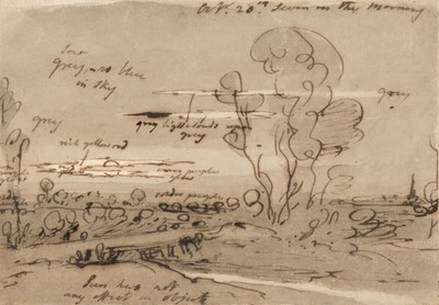 Lot 362 - Farington (Joseph, 1747-1821). Landscape study, early morning