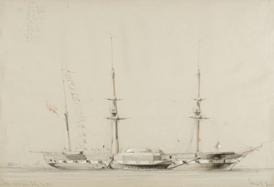 Lot 374 - Jones (Calvert R., 1804-1877). Sidon 1400 tons, July 14 1853