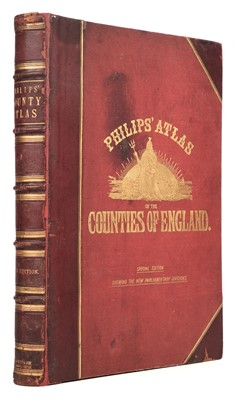 Lot 32 - Philip (George & Son publishers). Philip's Atlas of the Counties of England, circa 1886