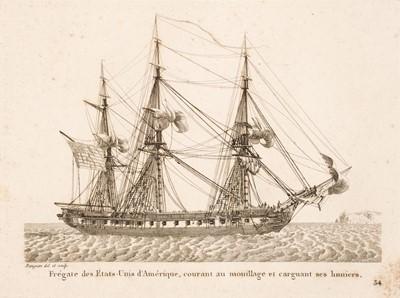 Lot 2 - Baugean (Jean Jérôme) Recueil de petites marines, 1817
