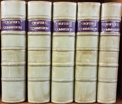 Lot 22 - Scottish Crofters. Condition of The Crofters and Cottars of Scotland. 5 volumes, 1884