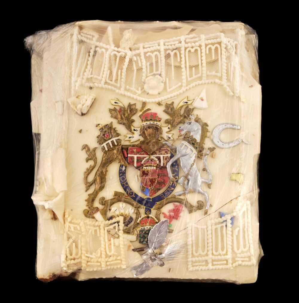 Lot 142 - Charles (1948) Prince of Wales & Diana (1961-1997) Princess of Wales. A large slice of cake