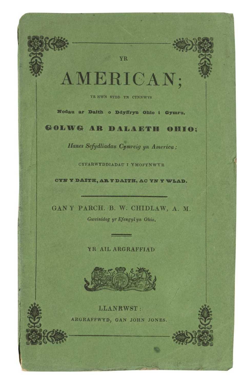 Lot 4 - Chidlaw (B.W.) Yr American, 1840