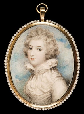 Lot 87 - Plimer (Andrew, 1763-1837, attributed to). Portrait miniature of a young lady