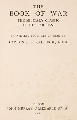 Lot 6 - Calthorp (Everard Ferguson, Captain). The Book of War, 1908