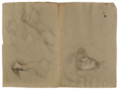 Lot 19 - Attributed to Pietro Bernardi, St. Francis receiving the Stigmata and other studies