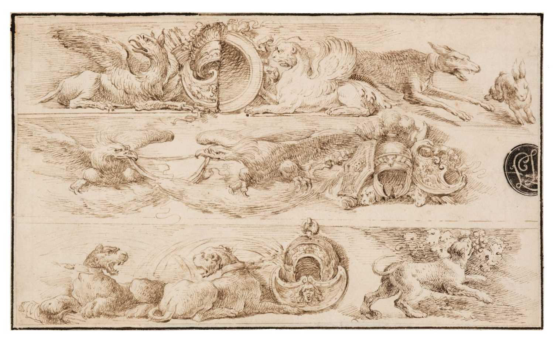 Lot 14 - Bella, Stefano della (1610-1664), After, Fantasia di Animali, pen and brown ink