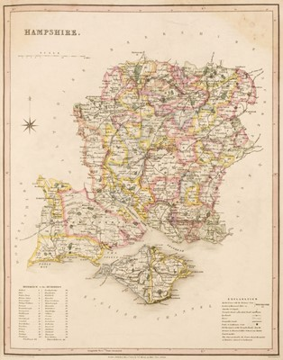 Lot 40 - Murray (T. L.). An Atlas of the English Counties Divided into Hundreds &c...., 1831