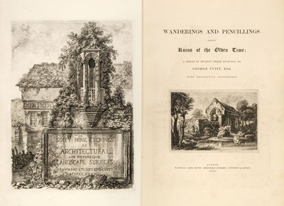 Lot 32 - Cuitt (George). Wanderings and Pencillings Amongst the Ruins of the Olden Time
