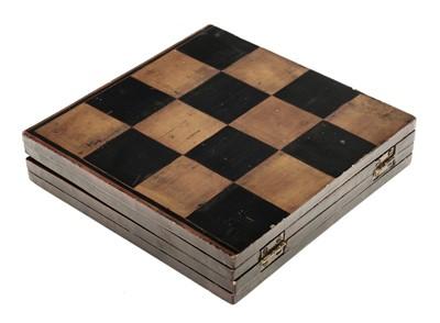 Lot 248 - Chess. A 19th-century folding chessboard