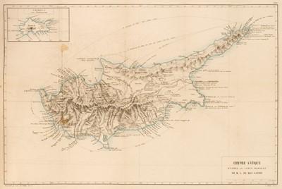 Lot 10 - De Mas Matrie (Louis). L'Ile de Chypre, 1st edition, Paris: Librarie de Firmin-Didot, 1879