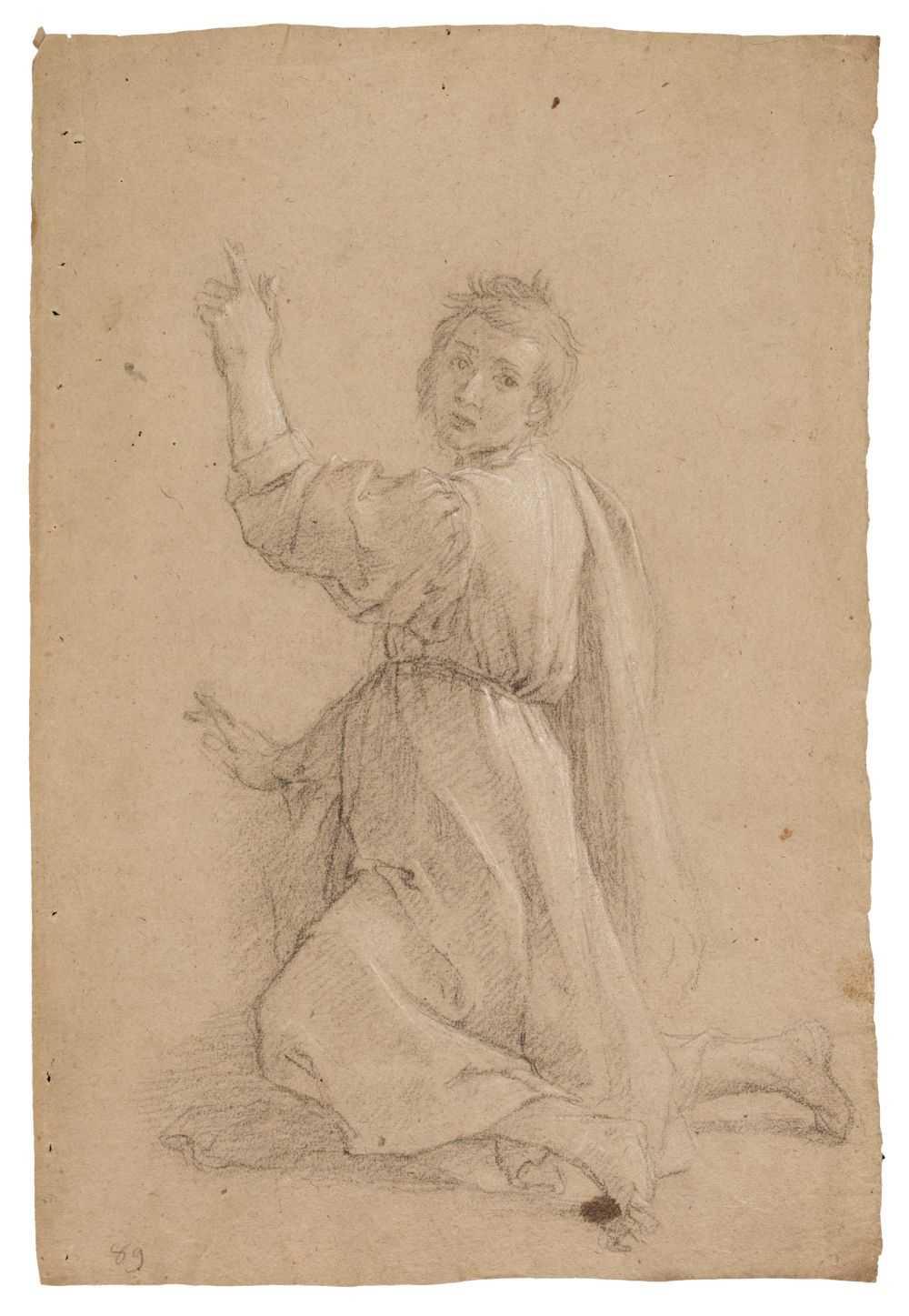 Lot 15 - Bernardi (Pietro, c. 1585/90-1623). A kneeling Saint and Mary Magdalene