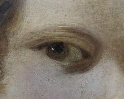 Lot 6 - Reynolds, Sir Joshua (1723-1792), Head of an Angel, or Child, after Correggio, oil on canvas