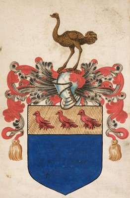 Lot 203 - Wray (Sir Christopher, c. 1522-1592). Patent of Arms by Robert Cooke, 1586