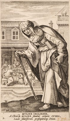 Lot 40 - De Vos (Martin). Mulier Inclinata (plate 9 from Icones Illustrium Feminarum Novi Testamenti), circa 1590-1612, etching