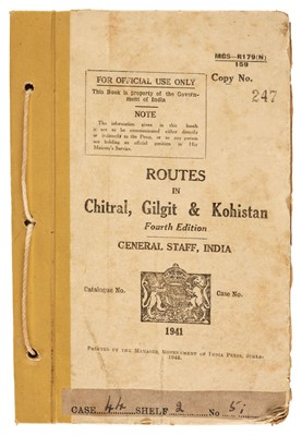 Lot 20 - North-West Frontier. Routes in Chitral, Gilgit & Kohistan, 4th edition, 1942