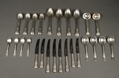 Lot 209 - Flatware. Silver King's Pattern cutlery