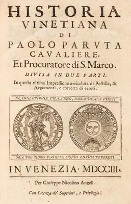Lot 22 - Paruta (Paolo). Historia Vinetiana, 2 parts in 1m, 1703