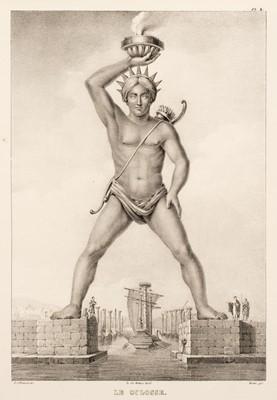 Lot 30 - Rottiers (Bernard Eugene Antoine). Monumens de Rhodes, 1828
