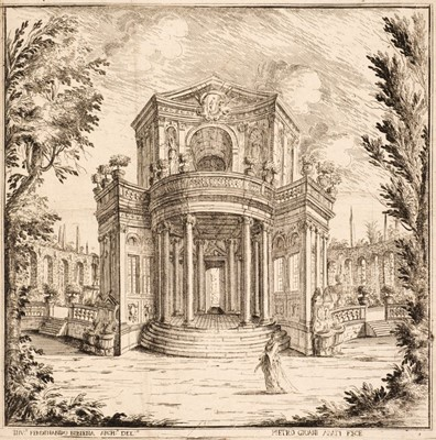 Lot 36 - Buffagnotti (Carlo Antonio, after Bibiena. Stage Sets for 'Endimione', etchings, 1699-1710