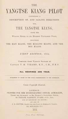 Lot 36 - Tizard (Thomas Henry). The Yangtse Kiang Pilot, 1914