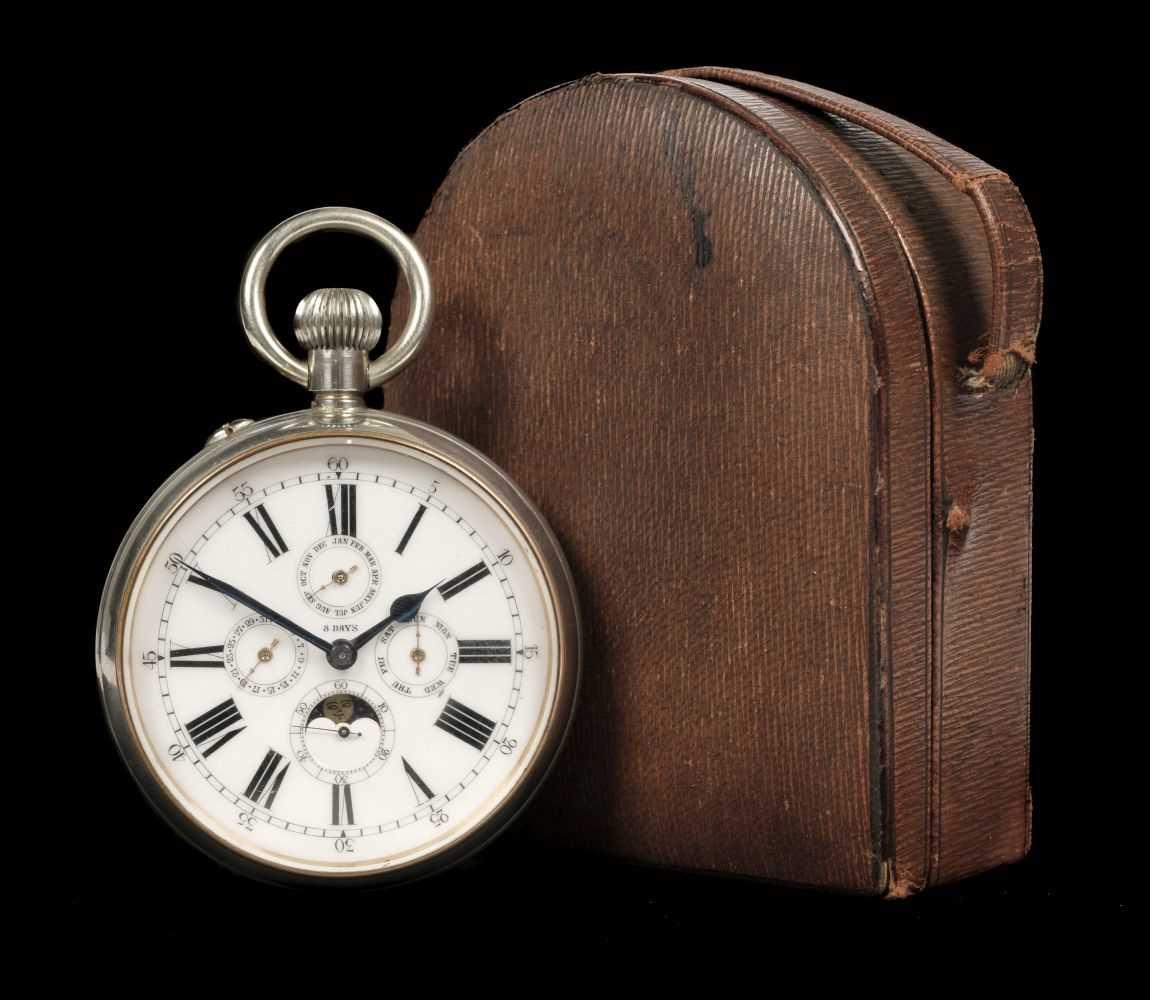 Lot 228 - Pocket Watch. A goliath pocket watch - Black Starr & Frost