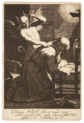 Lot 35 - Bloemaert (Cornelis, circa 1603-1692). The Temptation of St. Anthony
