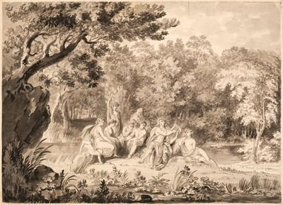 Lot 23 - Metz (Conrad Martin, 1749-1827).  Apollo playing his Lyre