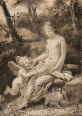 Lot 26 - Prud'hon (Pierre Paul, 1758-1823). Cupid and Psyche