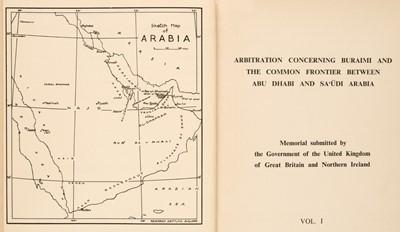 Lot 40 - Abu Dhabi. Arbitration Concerning Buraimi and the Common Frontier Between Abu Dhabi and Sa'udi Arabia, 1955