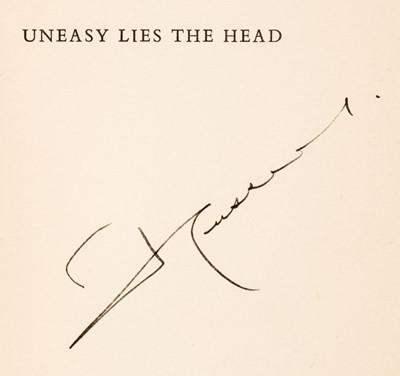 Lot 44 - Hussein of Jordan (King). Uneasy Lies The Head, 1st edition, London: Heinemann, 1962