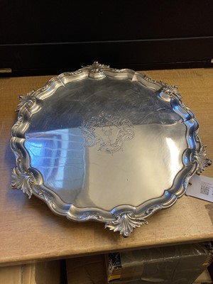 Lot 213 - Salver. George II silver salver by George Wickes, London 1753