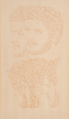 Lot 29 - Hussey, Giles (1710-1788, Attributed to), Bust of Caligula, sanguine chalk on laid paper