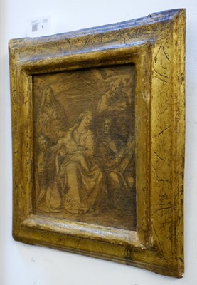 Lot 1 - Carducho (Vicente, 1576-1638). Holy Family with Saints, circa 1630-1638