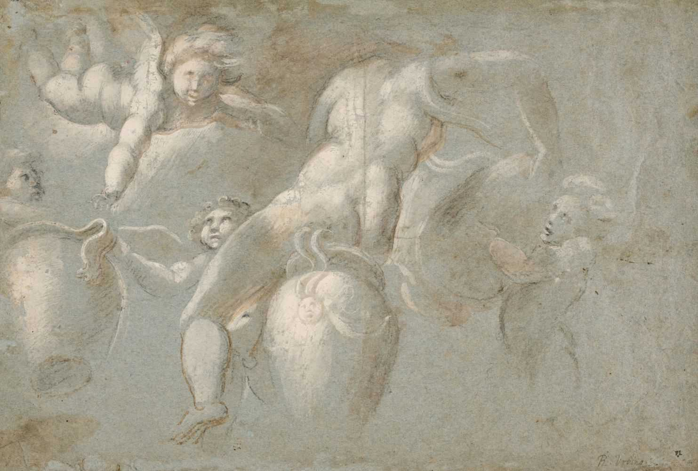 Lot 8 - Pupini (Biagio, circa 1496-circa 1575). Nymph pouring water from an urn, circa 1530-40
